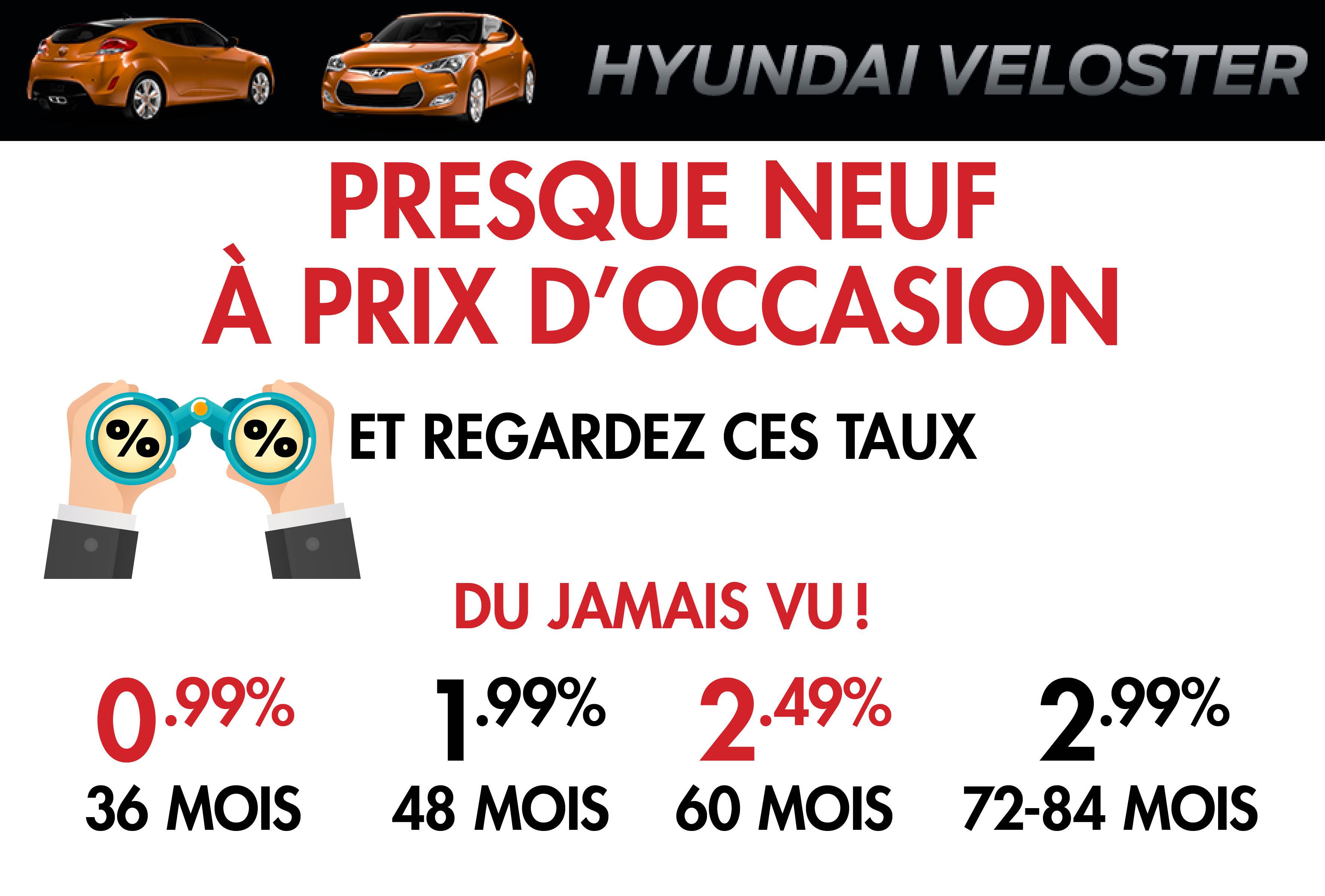 Hyundai Veloster d'occasion, usagés et démonstrateurs